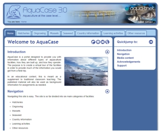 AQUACASE Website